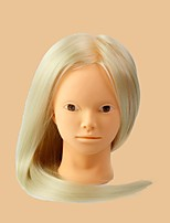 Synthetic Hair Salon Female Mannequin Head No Make-up