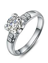 指輪 女性用 ラインストーン 銀 / プラチナメッキ 銀 / プラチナメッキ 4.0 / 5 / 6 / 7 / 8 / 8½ / 9 / 9½ 銀 色とスタイルの表現は、モニターによって異なる場合があります.誤植または絵のエラーの責任を負いません.