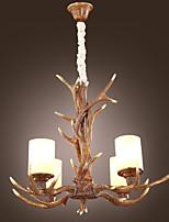 LBKB-5004 Pendant Lights Antlers Brown Glass Resin Retro Classic