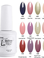 LIBEINE Soak Off 15 ML UV Gel Nail Polish Color Gel Polish Assorted Colors No.086-097
