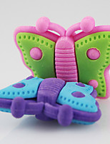 Cute Cartoon Butterfly Detachable DIY Rubber Eraser School Student Children Prizes Gift Promotion Assemble Toy Random Color
