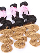 3PCS/Lot , Peruvian Virgin Hair ,Color 1B/27, Body Wave ,Ombre Hair Extensions Hot Sale Raw Human Hair .
