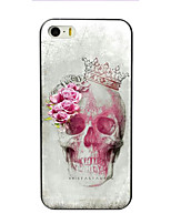Skull and Rose Design PC Hard Case for iPhone 7 7 Plus 6s 6 Plus SE 5s 5c 5