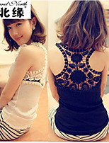 The back hollow Chiffon neckline hook flower vest SY1558