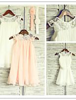 Flower Girl Dress Tea-length Chiffon/Lace A-line Sleeveless Dress