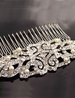 Vintage Carbonneau Vintage Rhinestone/Crystal/Diamomd Pearls Wedding Hair Comb For Bridal