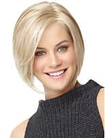 Nautral Short Blonde BOBO Wig For White Women Without Bangs