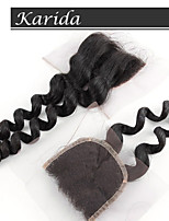 8-24 inch Middle Parting Lace Closure, Brazilian Loose Wave Closure