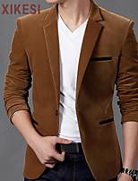 Men's Casual Pure Long Sleeve Regular Jacket (Cashmere)XKS5A32