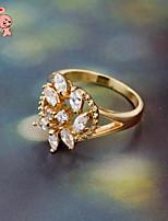 KuNiu Women's High Quality Classic 18K Gold Plated Romantic Flower Rings J0341