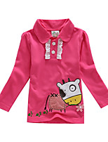 Girl's Winter/Spring/Fall Inelastic Thin Long Sleeve Tees (100% Cotton)