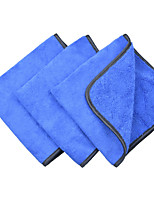 Sinland Microfiber Car Cleaning Cloths 400gsm Tow Different Sides for Cleaning Polishing 3-pack