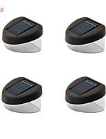 4pcs HRY® 2LEDS IP67 White Color Light Solar Fence Lamp Solar Lights