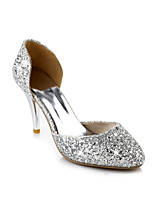 Women's Shoes Glitter Stiletto Heel Pointed Toe Pumps/Heels Office & Career/Dress/Casual Red/Silver/Gold