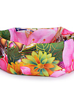 P836 Flowers Pattern Outdoor Multifunctional Seamless Headscarf - Pink (49 x 24cm)