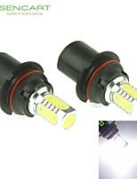 9007 HB5 PX29T 10W 900Lm 5 x COB LED Cold White Light Polarity Free Car Foglight / Headlamp / Tail Light (12-24V)
