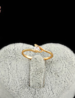 KuNiu Women's High Quality Classic 18K Gold Plated White Zircon Wedding Rings J0318