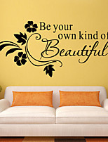 Wall Stickers Wall Decals Style Be Your kind of Beautiful English Words & Quotes PVC Wall Stickers