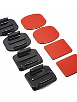 2x supporti piani&2x curvo supporti con cuscinetti adesivi per GoPro Hero 3 + / 3/2/1