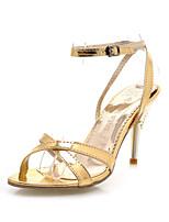 Women's Shoes Stiletto Heel Heels/Open Toe Sandals Office & Career/Dress/Casual Silver/Gold
