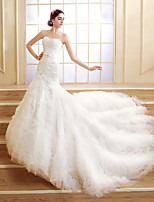 Trumpet/Mermaid Court Train Wedding Dress -Sweetheart Tulle