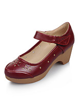 Women's Shoes Chunky Heel Comfort / Round Toe Heels Outdoor / Office & Career / Dress Black / Brown / Red / White