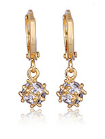 KuNiu Women's Vintage 18K Gold Plated Ball Shape Crystal Drop Earrings ER0075