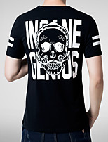 T-shirt Uomo Casual/Attività sportive Con stampe/Tinta unita Manica corta Cotone