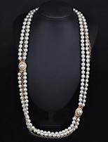 Vintage/Party Alloy/Imitation Pearl Layered