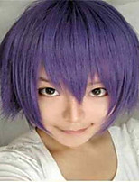 Fashion Color Cartoon Colored Wigs Masquerade Dedicated Short Smoke Purple Wig