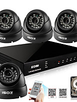ZOSI® 800TVL 960H HDMI 500GB HDD 4CH H.264 DVR Kits 4x Outdoor Day Night IR CCTV Camera Security System
