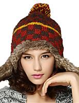 Kenmont Knitted Hat Women Lady Winter Korean Cute Thicken Earmuff Snow Cap 1511