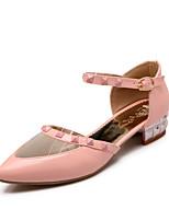 Women's Shoes Low Heel Heels/Pointed Toe/Closed Toe Pumps/Heels Wedding/Dress/Casual Black/Pink/White/Beige