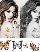 Metallic Tattoo Set Big Size Gold Tattoo Silver Temporary Tattoos Metallic Temporary Tattoos Women Jewelry