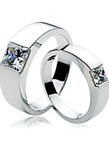 2CT Male Ring 0.5CT Female Ring Princess Jewelry Couple Ring for Lovers SONA Simulate Diamond Engagement Sterling Silver