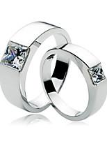Paar Ringe Strass Silber/Platiert Silber/Platiert