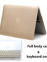Top Selling Metal Style PVC Hard Full Body Case and TPU Keyboard Cover for Macbook Air 13.3 inch (Assorted Colors)