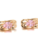 Sjeweler Girls Latest Design Gold-Plated Clear Zirconia Earrings
