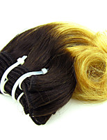 1pcs 8inch Peruvian Virgin Hair Ombre Hair Extensions Body Wave Color 1B/27 Hair Weaves
