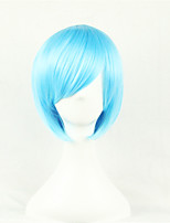 The New Cartoon Color Wig Water Blue FaceShort Straight Hair Wigs