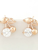 Women's Fashion Sweet Cherry Zircon Earrings