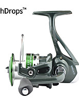 FISHDROPS Aluminum Spool, Metal Handle 5.5:1, 7 Ball Bearings Spinning Reel, Left & Right Hand Exchangble