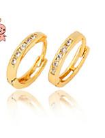 KuNiu Women's Vintage 18K Gold Plated Hoop Earrings ER0014