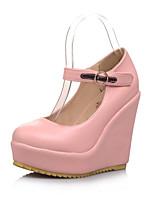Women's Shoes Wedge Heel Wedges/Round Toe/Closed Toe Pumps/Heels Office & Career/Dress/Casual Pink/White/Beige