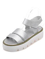 Women's Shoes Platform Platform/Slingback Sandals Casual Black/White/Silver