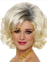 New Fashion Outside White Color Become Warped Hair Wigs