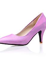 Women's Shoes  Stiletto Heel Heels/Pointed Toe Pumps/Heels Wedding/Office & Career/Dress Yellow/Purple/Red/Silver