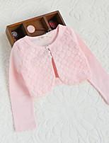 Girl's Cotton Micro-elastic Thin Long Sleeve Sweet Flower Short Coats
