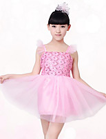 Girl's Cotton Blends Inelastic Medium Sweet Sleeveless Princess Dresses