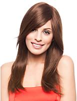 vente chaude femmes européennes dame brune longue perruque syntheic d'onde